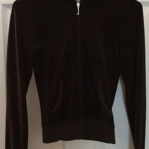 Juicy Couture Zippered Velour Hoodie